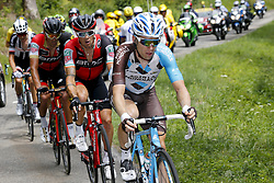 July 8, 2017 - Station Des Rousses, FRANCE - Belgian Serge Pauwels of Dimension Data, Irish Nicolas Roche of BMC Racing Team and Belgian Jan Bakelants of AG2R La Mondiale pictured in action during the eighth stage of the 104th edition of the Tour de France cycling race, 187,5km from Dole to Station des Rousses, France, Saturday 08 July 2017. This year's Tour de France takes place from July first to July 23rd. BELGA PHOTO YUZURU SUNADA (Credit Image: © Yuzuru Sunada/Belga via ZUMA Press)