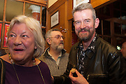 LYNN BARBER; KEITH KING; ADAM MARS-JONES, The Omnivore hosts the third Hatchet  Job of the Year Award. Sponsored by the Fish Society.  The Coach and Horses. Greek st. Soho. London. 11 February 2014.