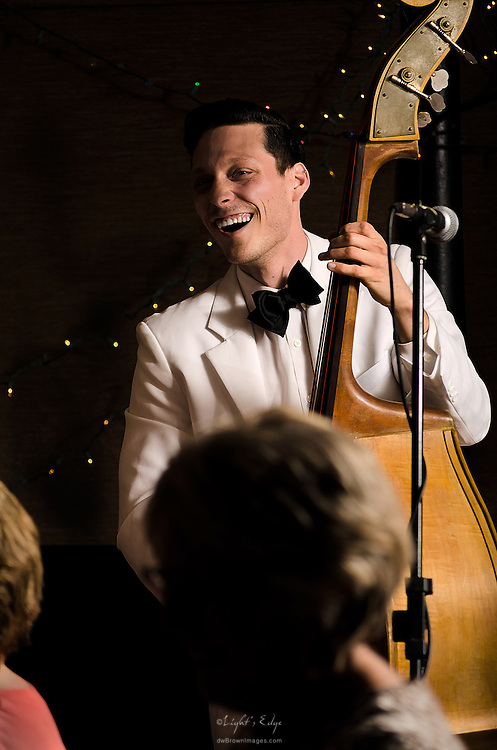Christopher Davis-Shannon on bass with Bill Haley Jr. & The Comets at The Bus Stop Music Cafe in Pitman, NJ.
