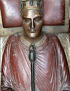 Plaster cast of the tomb of Ricahrd I King of England. Thge orriginal effigy (c. 1199) of Richard I is at Fontevraud Abbey, Anjou, France.Richard I (8 September 1157 – 6 April 1199) was King of England from 6 July 1189 until his death. He also ruled as Duke of Normandy,