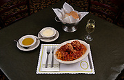 """Spaghetti and meatballs. Photos at Cunetto's House of Pasta """"On The Hill"""" in south St. Louis taken on Wednesday April 21, 2021 for the Better Business Bureau (St. Louis) Torchlight quarterly magazine. <br />Photo byTim Vizer"""