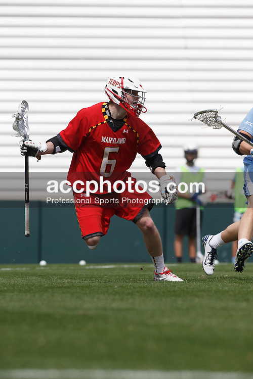 CHAPEL HILL, NC - MARCH 22: Rustin Bryant #6 of the Maryland Terrapins during a game against the North Carolina Tar Heels on March 22, 2014 at Kenan Stadium in Chapel Hill, North Carolina. North Carolina won 11-8. (Photo by Peyton Williams/Inside Lacrosse)