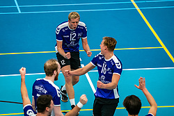 Tom van Steenis of Vocasa, Mees Blom of Vocasa in action during the first league match in the corona lockdown between Talentteam Papendal vs. Vocasa on January 13, 2021 in Ede.