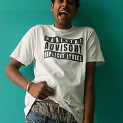 Sukhbeer Singh Grewal (22) is wearing his underwear in style. West End mall, Ludhiana, Punjab