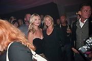 KATE MOSS; LINDA MOSS, Celebration of 10 years with Kate Moss as the face of the make-up brand Rimmel.  Battersea Power Station. London. 15 September 2011<br /> <br /> <br />  , -DO NOT ARCHIVE-© Copyright Photograph by Dafydd Jones. 248 Clapham Rd. London SW9 0PZ. Tel 0207 820 0771. www.dafjones.com.