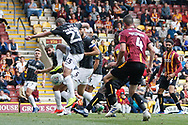 Goal scored by Bradford City's Clayton Donaldson(10) during the EFL Sky Bet League 2 match between Bradford City and Northampton Town at the Utilita Energy Stadium, Bradford, England on 7 September 2019.
