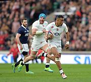 Twickenham, Great Britain, Antony WATSON, running towards the Scottish try  line during the Six Nations Rugby England vs Scotland, played at the RFU Stadium, Twickenham, ENGLAND. Saturday 14/03/2015<br /> <br /> [Mandatory Credit; Peter Spurrier/Intersport-images]