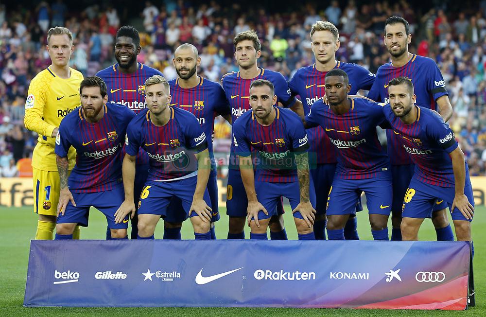 August 20, 2017 - Barcelona, Catalonia, Spain - FC Barcelona team during La Liga match between F.C. Barcelona v Real Betis Balompie, in Barcelona, on August 20, 2017. hoto: Joan Valls/Urbanandsport/Nurphoto  (Credit Image: © Joan Valls/NurPhoto via ZUMA Press)