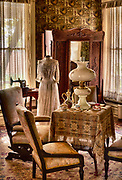 Living room in a private home in Dallas, Texas from the turn of the 20th century