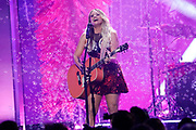NASHVILLE, TENNESSEE - NOVEMBER 13: (FOR EDITORIAL USE ONLY) Miranda Lambert performs onstage at the 53rd annual CMA Awards at the Bridgestone Arena on November 13, 2019 in Nashville, Tennessee. (Photo by Mickey Bernal/WireImage)