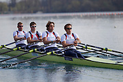 Mcc0038874 . Daily Telegraph..DT Sport.Mens Quadruple Scull left to right, Matthew Wells, Tom Solesbury, Charles Cousins, Stephen Rowbothan..The announcement of the GB Rowing Crews for the first World Cup.. .Reading 4 April 2012