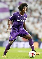 ACF Fiorentina's Carlos Sanchez during Santiago Bernabeu Trophy. August 23,2017. (ALTERPHOTOS/Acero)