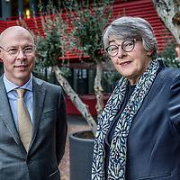Nederland, Schiphol, 25 oktober 2016.<br /> <br /> Directeur PME Eric Uijen en Cathrin van der Werf-de Koning, werkgeverslid van het bestuur van BPF Schilders.<br /> <br /> Foto: Jean-Pierre Jans