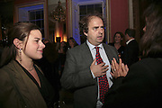 EMMA GROVE AND ALEXANDER WAUGH, Literary Review's Bad Sex In Fiction Prize.  In & Out Club (The Naval & Military Club), 4 St James's Square, London, SW1, 29 November 2006. <br />Ceremony honouring author who writes about sex in a 'redundant, perfunctory, unconvincing and embarrassing way'. ONE TIME USE ONLY - DO NOT ARCHIVE  © Copyright Photograph by Dafydd Jones 248 CLAPHAM PARK RD. LONDON SW90PZ.  Tel 020 7733 0108 www.dafjones.com