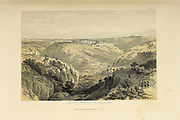 Jerusalem from south The Holy Land : Syria, Idumea, Arabia, Egypt & Nubia by Roberts, David, (1796-1864) Engraved by Louis Haghe. Volume 1. Book Published in 1855 by D. Appleton & Co., 346 & 348 Broadway in New York.