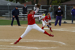 01 May 2005..Redbird  Pitcher Stacy Birk delivers...ISU Redbirds V UNI (Northern Iowa) Panthers.  Illinois State University, Normal IL