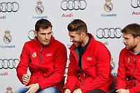 Casillas and Sergio Ramos participates and receives new Audi during the presentation of Real Madrid's new cars made by Audi in Madrid. December 01, 2014. (ALTERPHOTOS/Caro Marin)