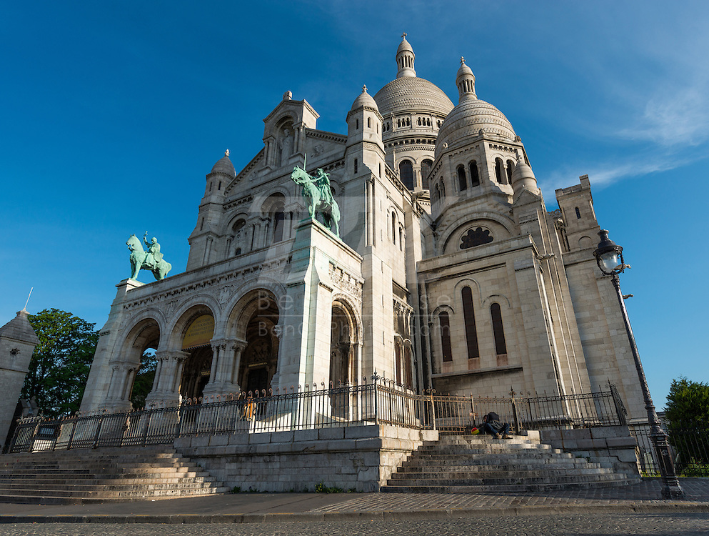 Sacre Coeur Basilica is located on top of the highest hill in Paris and offers a great view of the city.  We hiked up to the hill at about 8AM to beat the crowds.