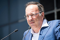 Iñaki Torres, Head of communication of Cristiano Ronaldo read an announcement to the press after the testimony of Real Madrid's player Cristiano Ronaldo at Trial Court in Madrid, July 31, 2017. Spain.<br /> (ALTERPHOTOS/BorjaB.Hojas)