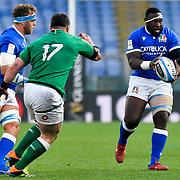 Roma 27/02/2021, Stadio Olimpico<br /> Guinness Six Nations 2021<br /> Italia vs Irlanda <br /> <br /> Cherif Traore'