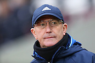 Tony Pulis, the West Bromwich Albion manager looking on. Premier league match, West Ham Utd v West Bromwich Albion at the London Stadium, Queen Elizabeth Olympic Park in London on Saturday 11th February 2017.<br /> pic by John Patrick Fletcher, Andrew Orchard sports photography.