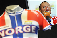 Sykkel<br /> VM 2011<br /> Foto: PhotoNews/Digitalsport<br /> NORWAY ONLY<br /> <br /> 20.09.2011<br /> <br /> Thor HUSHOVD (NOR) Cyclisme : Equipe de Norvege - Conference de presse - Championnat du monde sur route UCI - 20.09.2011