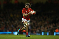 Josh Navidi of Wales in action. Wales v Scotland, NatWest 6 nations 2018 championship match at the Principality Stadium in Cardiff , South Wales on Saturday 3rd February 2018.<br /> pic by Andrew Orchard, Andrew Orchard sports photography