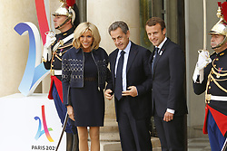 September 15, 2017 - Paris, France, France - Brigitte Macron - Nicolas Sarkozy - Emmanuel Macron (Credit Image: © Panoramic via ZUMA Press)