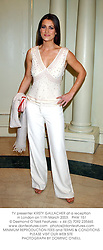 TV presenter KIRSTY GALLACHER at a reception in London on 11th March 2003.PHW 151