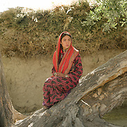 Young woman. The traditional life of the Wakhi people, in the Wakhan corridor, amongst the Pamir mountains.