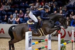 RIEDLINGER Sophia (GER), Chelsie Girl<br /> Finale HGW-Bundesnachwuchschampionat der Springreiter <br /> gefördert durch die Horst-Gebers-Stiftung <br /> In Memoriam Debby Winkler<br /> Stilspringen Kl. M*<br /> Nat. style jumping competition Kl. M*<br /> Braunschweig - Classico 2020<br /> 08. März 2020<br /> © www.sportfotos-lafrentz.de/Stefan Lafrentz