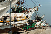 Traditional cargo boats<br /> Harbour<br /> Jakarta<br /> Indonesia