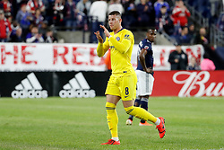 May 15, 2019 - Foxborough, MA, U.S. - FOXBOROUGH, MA - MAY 15: Chelsea FC midfielder Ross Barkley (8) salutes the fans after being subbed off during the Final Whistle on Hate match between the New England Revolution and Chelsea Football Club on May 15, 2019, at Gillette Stadium in Foxborough, Massachusetts. (Photo by Fred Kfoury III/Icon Sportswire) (Credit Image: © Fred Kfoury Iii/Icon SMI via ZUMA Press)