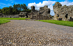 A cobbled roadway inside St Andrews Castle, St Andrews, Fife, Scotland<br /> <br /> (c) Andrew Wilson | Edinburgh Elite media