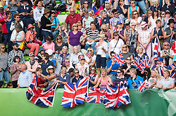 British supporters - Freestyle Grand Prix Dressage - Alltech FEI World Equestrian Games™ 2014 - Normandy, France.<br /> © Hippo Foto Team - Jon Stroud<br /> 25/06/14