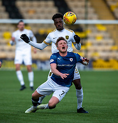Livingston Steve Lawson and Raith Rovers Tony Dingwall. half time : Livingston 0 v 1 Raith Rovers, William Hill Scottish Cup played 18/1/2020 at the Livingston home ground, Tony Macaroni Arena.