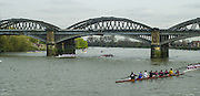 London, Great Britain, Barnes Bridge 2002 Head of the River Race Championship Course Chiswick [Mortlake] to Putney. River Thames. Saturday, [Mandatory Credit. Peter SPURRIER/Intersport Images. 20020323. Head of the River Race, London. UK.