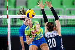 Iza Mlakar of Slovenia during the volleyball match between National team of Slovenia and China in Preliminary Round of Womens U23 World Championship 2017, on September 12, 2017 in SRC Stozice, Ljubljana, Slovenia. Photo by Morgan Kristan / Sportida