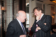 JULIAN FELLOWES; THEO FENNELL, Vanity Fair Lunch hosted by Graydon Carter. 34 Grosvenor Sq. London. 14 May 2013