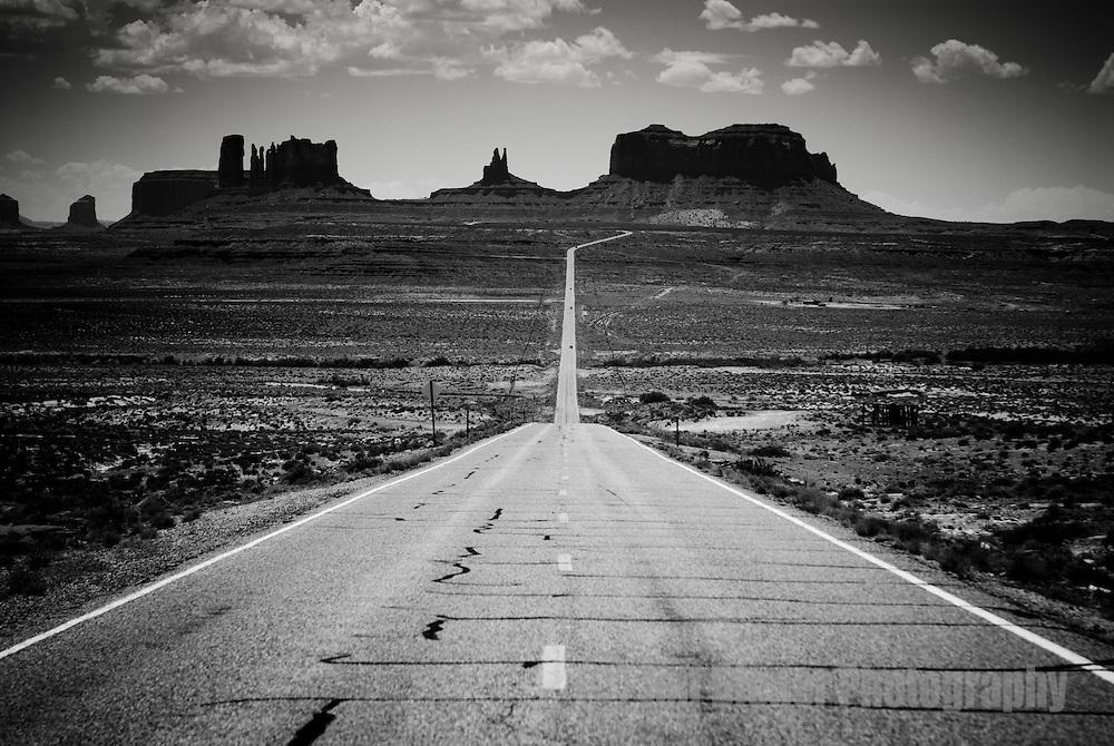 Highway 163 in Monument Valley, Arizona.
