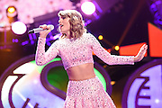 Taylor Swift performing at the iHeartRadio Music Festival in Las Vegas, Nevada on Sepembter 20, 2014.