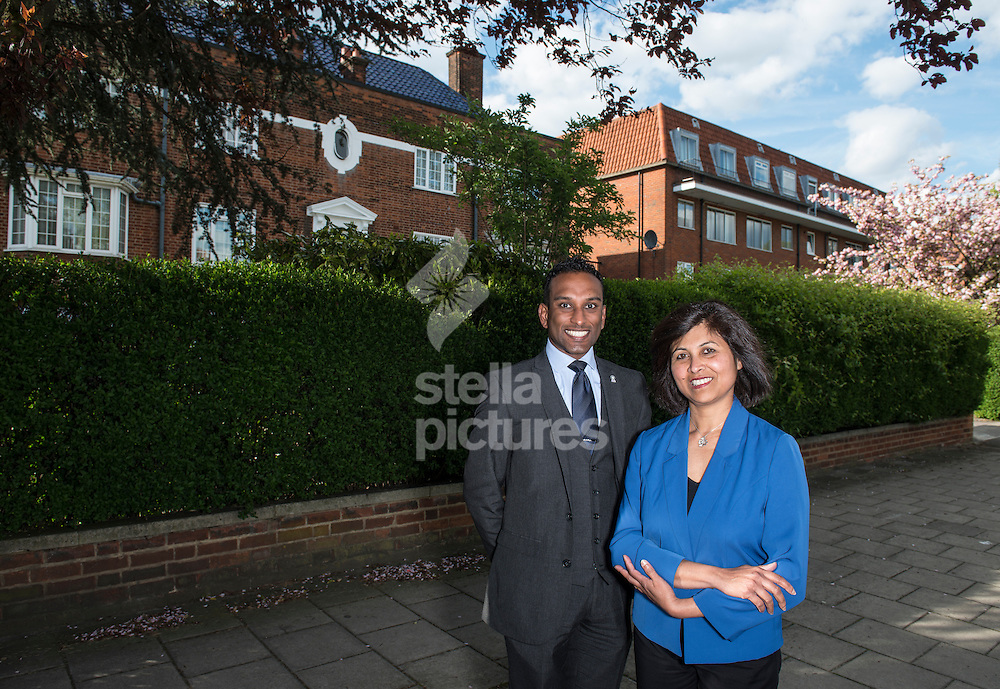 Second generation immigrants Ajantha Tennakoon and Shaun Dias who both will vote Conservative at the upcoming general election.<br /> Picture by Daniel Hambury/Stella Pictures Ltd +44 7813 022858<br /> 28/04/2015
