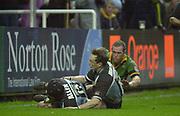 Northampton, Northamptonshire,  7th December 2002, [Mandatory Credit: Peter Spurrier/Intersport Images],Heineken European Cup - Franklin Gardens - Northampton vs Cardiff<br /> Cardiff's Nick Walne and Rhys Williams (left)