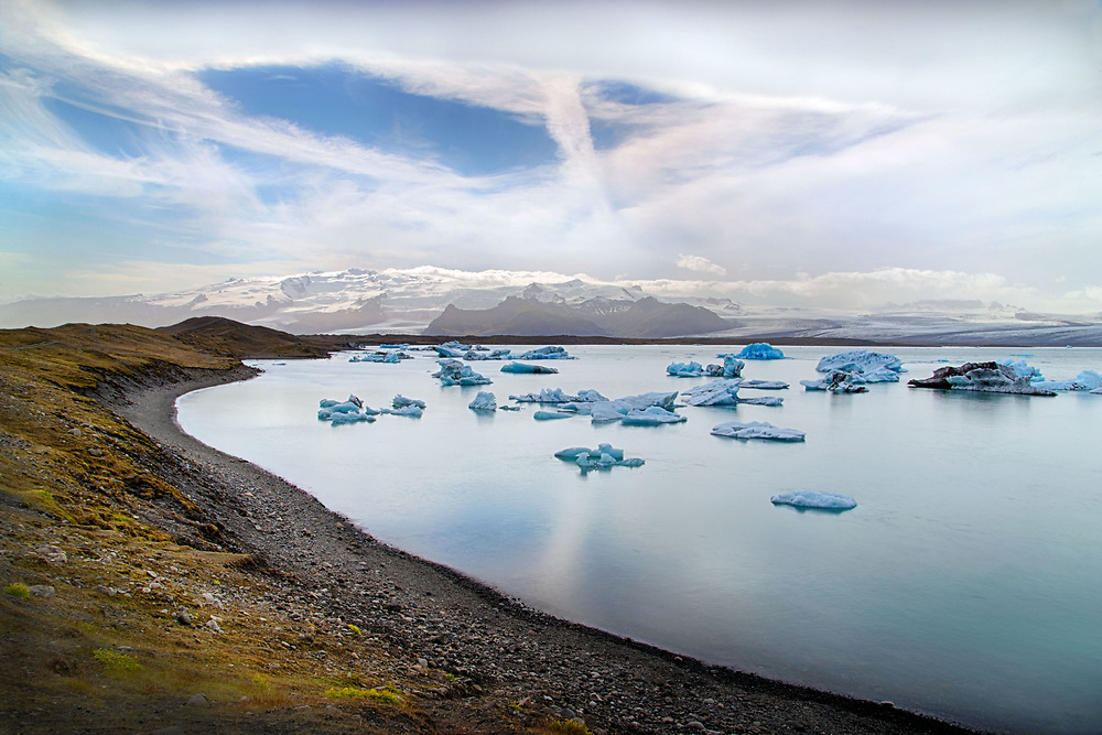 Icebergs, Jökulsárlón Lagoon, Iceland