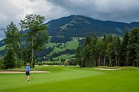 WESTENDORF -  Tirol   Oostenrijk,  -  hole 18. Golfanlage Kitzbuheler Alpen Westendorf.    COPYRIGHT KOEN SUYK