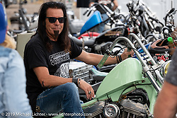 Bobby Alexander on his Harley-Davidson Sportster at the Ricky Bongos Sportster Show at the First Turn Restaurant during Daytona Beach Bike Week, FL. USA. Monday, March 11, 2019. Photography ©2019 Michael Lichter.