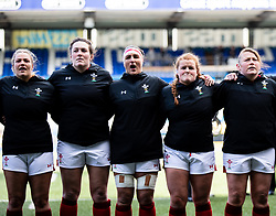 Wales Women singing the anthem<br /> <br /> Photographer Simon King/Replay Images<br /> <br /> Six Nations Round 5 - Wales Women v Ireland Women- Sunday 17th March 2019 - Cardiff Arms Park - Cardiff<br /> <br /> World Copyright © Replay Images . All rights reserved. info@replayimages.co.uk - http://replayimages.co.uk