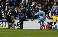 Photo: Steve Bond/Richard Lane Photography.<br />Coventry City v Chelsea. FA Cup 6th Round. 07/03/2009. Alex (L) drills the ball in for goal no2