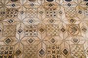 Roman mosaic archaeological display inside the Alcazar palace, Cordoba, Spain