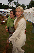 Princess Tamara Czartorski Borbon and  Caprice, .  Cartier International Day at Guards Polo Club, Windsor Great Park. July 24, 2005. ONE TIME USE ONLY - DO NOT ARCHIVE  © Copyright Photograph by Dafydd Jones 66 Stockwell Park Rd. London SW9 0DA Tel 020 7733 0108 www.dafjones.com